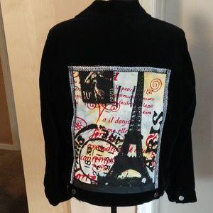 Romantic Black Velvet Paris jacket